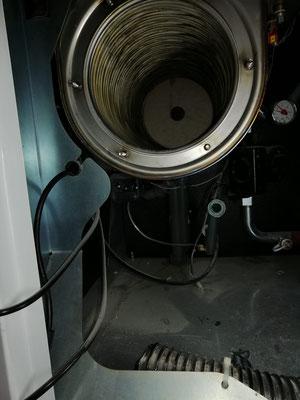 Gasheizung nach der Reinigung