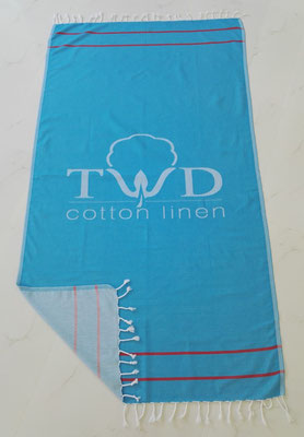 Jacquard woven Turkish towel front side