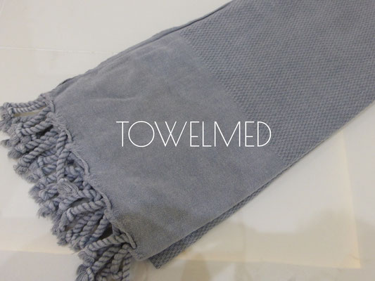 Honeycomb light grey stonewashed fouta