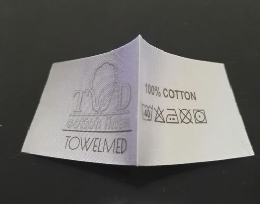 Example of printed logo label