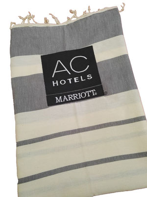 Custom embroidered Turkish towel