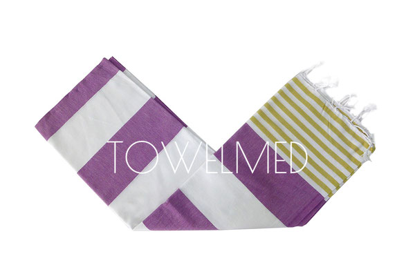 Striped flat pestemal towel