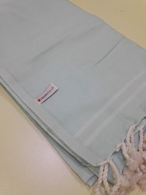 Logo labelled fouta towel