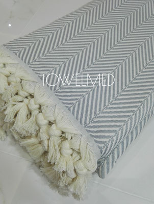 Plaid coton Symetric chevron