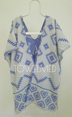 Aztec woman poncho inner side