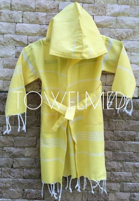 Kids hammam bathrobe