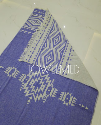 Jacquard woven Turkish towel double layer