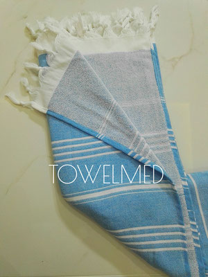 Striped terry pestemal towel