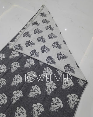 SKULL HEAD FOUTA TOWEL