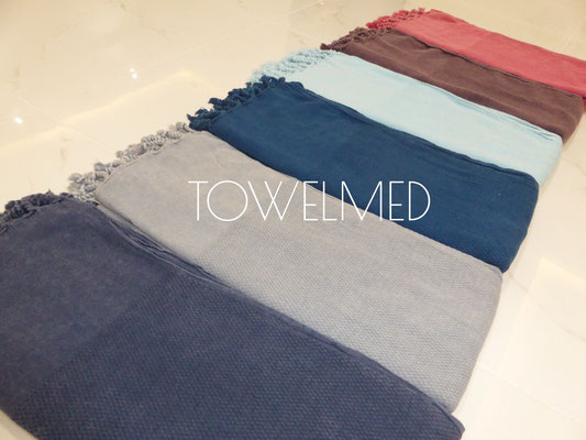 Honeycomb pre faded fouta towels