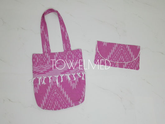 Beach bag and makeup bag