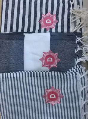 Custom embroidered fouta towels
