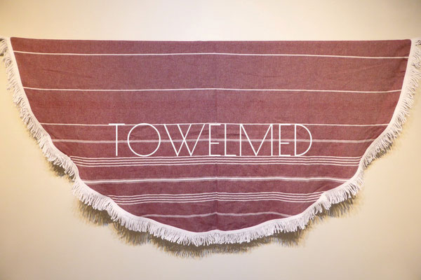 Red round towel