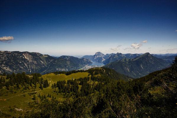 Blick vom Petergupf nach Ebensee