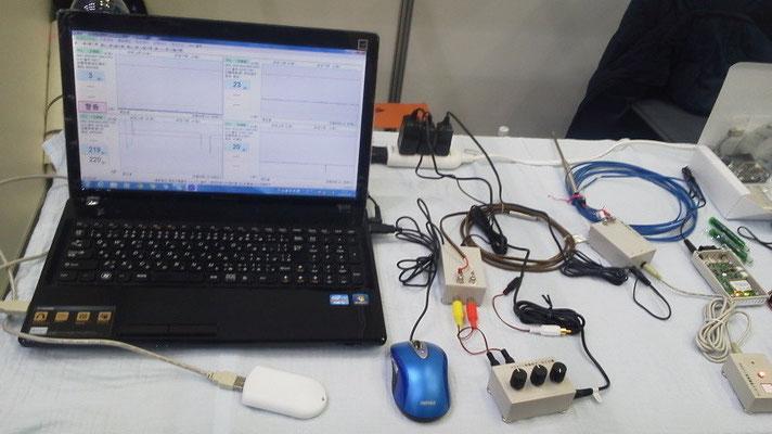 無線ネットワーク製品のデモ展示