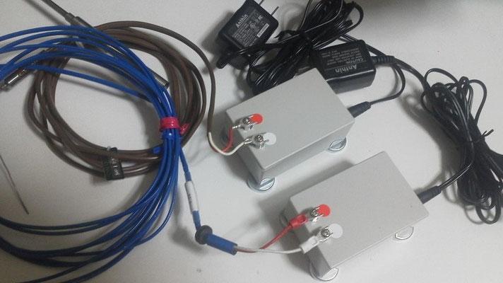 2台のNCNW3型子機、ACアダプター、熱電対
