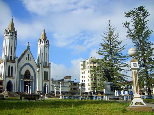 Die Plaza von Santa Rosa de Cabal