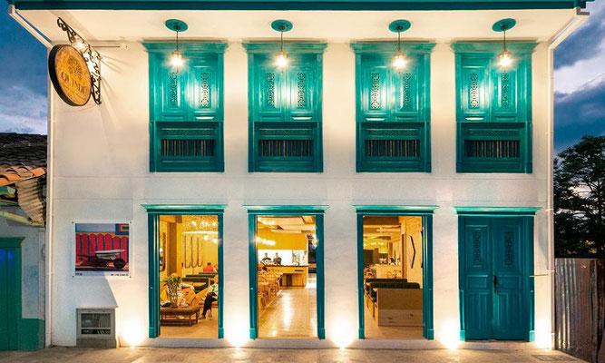 Eingang Restaurant Rückfassade