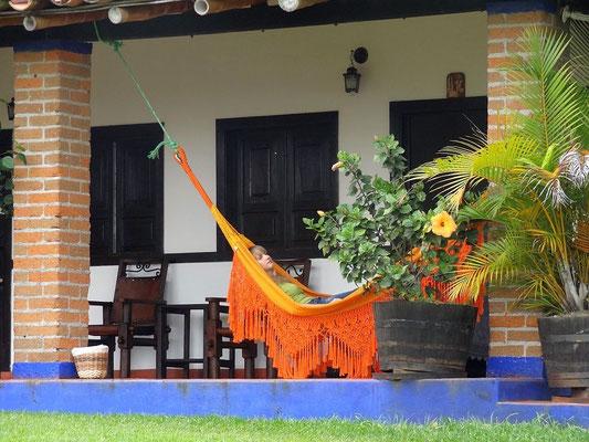 Entspannung pur auf der Kaffeefinca Bosque del Saman