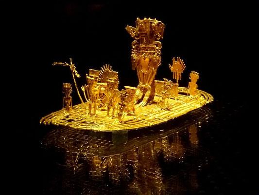 Das Muisca Floß, Sinnbild der Legende von El Dorado