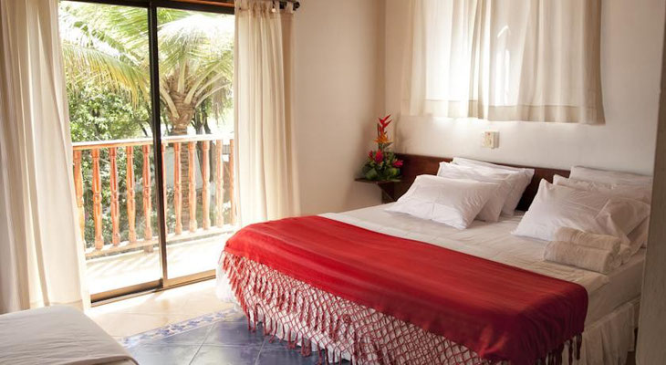 Geräumige Doppelzimmer im Strand Hotel Isla Tierrabomba - Cartagena