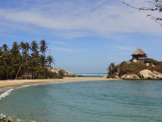 Tayrona Nationalpark - am Strand von Cabo San Juan del Guia