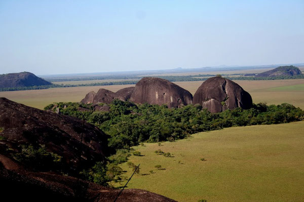 Blick auf die Tafelberge von Guaripa