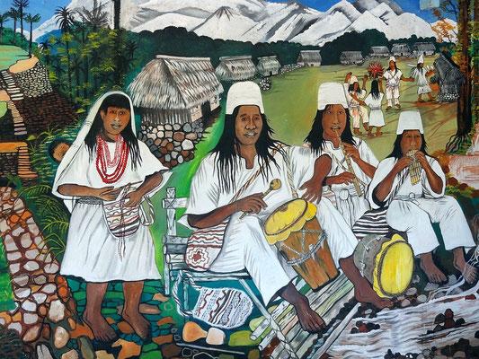 Arhuaca- Indianer, Nachfahren der einstigen Tayrona Kultur