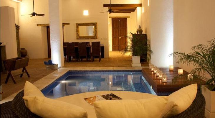 Der kleine Pool im Casa del Agua San Marta