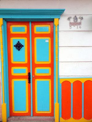 Typisch traditionelle Tür in Salento