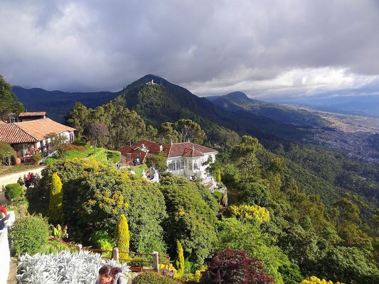 Blick von Monserrate auf Bogota