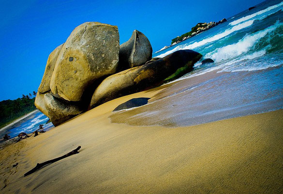 Der nahe Strand von Arrecifes - Tayrona Nationalpark