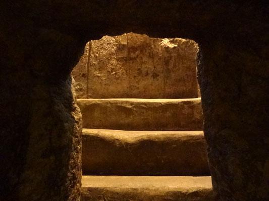 In einem der Gräber von Tierradentro