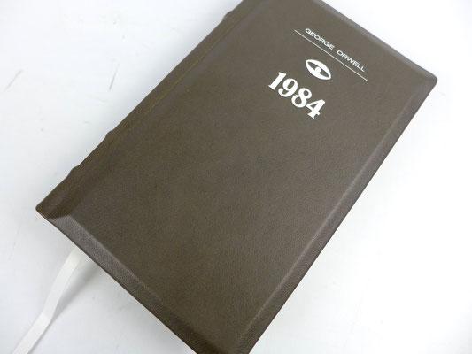 Neunzehnhundertvierundachtzig - Dystopischer Roman von George Orwell - Ledereinband