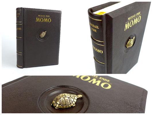 Momo Kinderbuch von Michael Ende Ledereinband