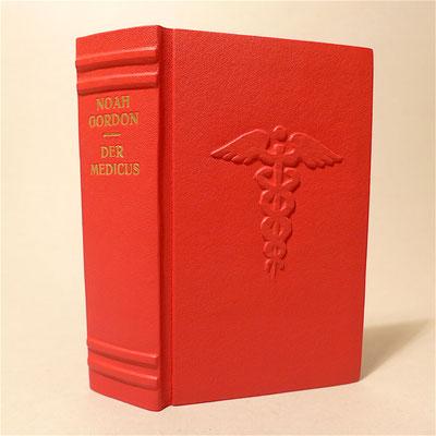 Noah Gordon - Der Medicus in rotes Leder gebunden