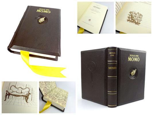 Momo Ganzledereinband Kinderbuch von Michael Ende