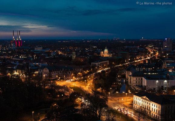 """Blick auf die Basilika St.Clemens und die """"Warmen Brüder"""""""
