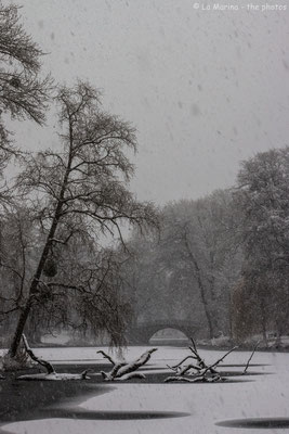 Georgengarten im Schneegestöber