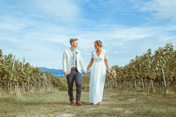Hochzeitsfoto von Anja und Guido am Tuniberg von Timo Erlenwein Fotografie