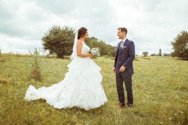 Hochzeitsbild Verena und Daniel beim First-Look fotografiert von Timo Erlenwein Fotografie