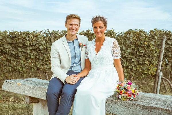 Hochzeitsfoto von Anja und Guido vom Shooting am Tuniberg von Timo Erlenwein Fotografie