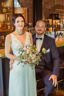 Hochzeitsbild von Jacqueline und Fabian Brautpaarshooting fotografiert von Timo Erlenwein Fotografie