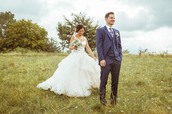 Hochzeitsbild Verena und Daniel vor dem First-Look fotografiert von Timo Erlenwein Fotografie