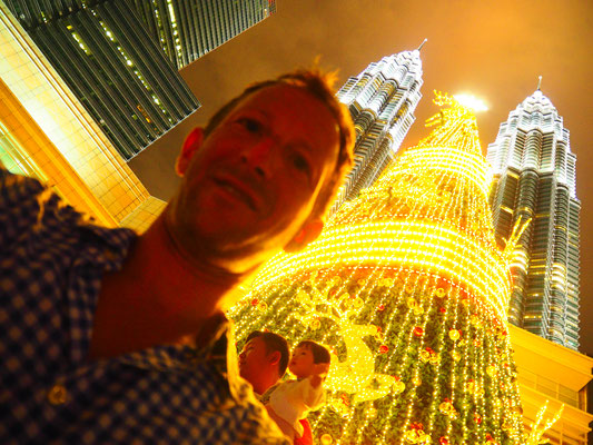 Weihnachten vor Petronas Tower