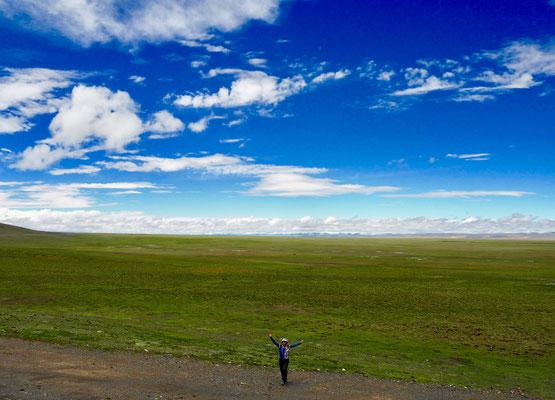 Endlose weiten auf dem Plateau