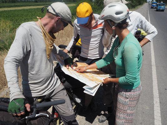 Radfahrer Meeting auf der Strasse