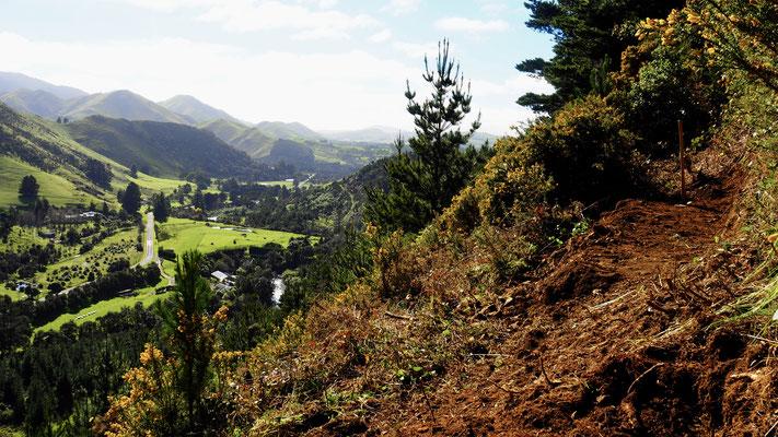Mountain Bike Trails bauen mit schöner Aussicht