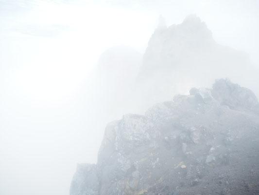 Auf dem Gipfel Merapi