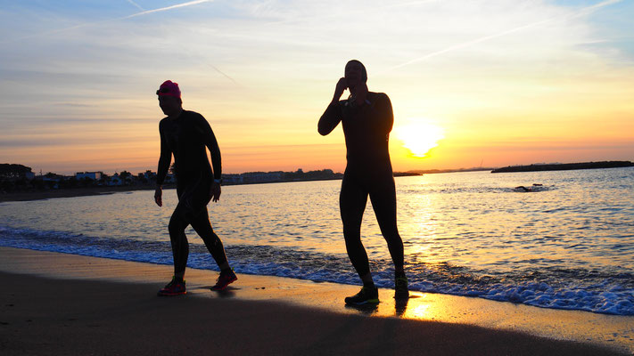 schwimmen Sonnenaufgang